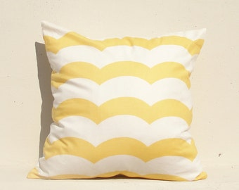 Yellow Wave Pillow cover