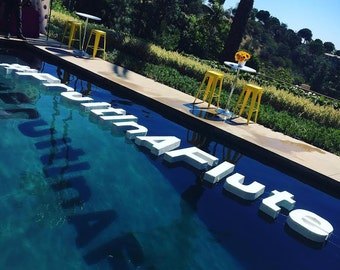 Good Floating Pool Letters Wedding Monograms  Wedding Day Decor Pool Decor Outdoor  Party