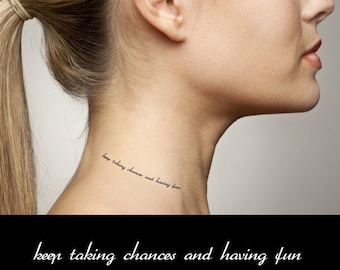 Inspirational Quotes - keep taking chances and having fun