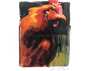 Chicken 1 Oil Painting