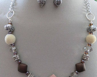 Ladies jewelry Unique 2-pc. Set neutral tones