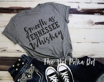 Smooth as Tennessee Whiskey Adult Triblend Short Sleeve T-Shirt, Rodeo Country Concert Shirt, Country Music Song Lyric Shirt