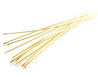 Set of 200 stems to head flat 30mm gold gilt for the creation of jewelry and accessories