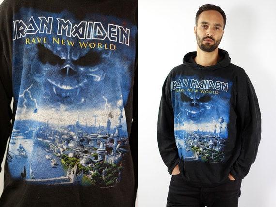 Vintage Sweatshirt  Iron Maiden Sweatshirt Iron Maiden Jumper 90s Sweater Oversize Sweatshirt Oversize Sweater 90s Jumper Iron Maiden Hoodie