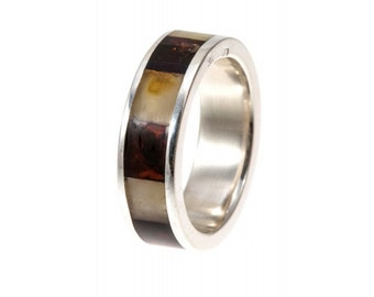 Amber Silver Ring | Ring Size 6.5 US