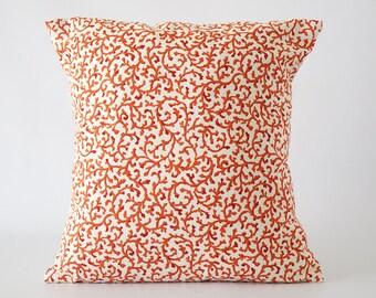 Orange pillow, pillow cover, orange decorative pillow, orange pillow cover, throw pillows, cushion, decorative pillows