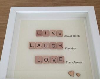 Scrabble Love Family Frames