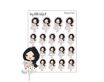 Planner Stickers Happy Mail Stickers Doodle Girl