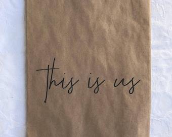 Kraft merchandise bag  This Is Us