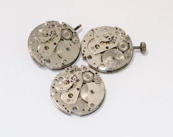 3 pcs Watch gears Steampunk Watch movements watch parts watch details steampunk movements steampunk watch vintage watch steampunk gears