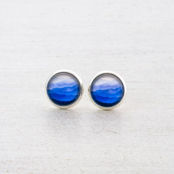 Blue Mountains Stud Earrings
