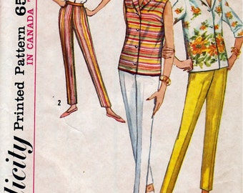 Bust 32-1964 Misses' Blouse and Slacks  Simplicity 5436  Size 12