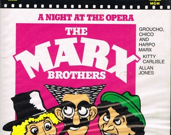 Marx Brothers - A Night At The Opera - Part 1 - 400ft super 8 B&W movie extract 1935