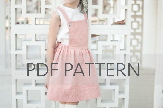 Macy Pinafore PDF,suspender skirt pdf,pinafore PDF,pinny pattern ...
