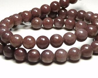 8mm Purple Aventurine Natural Gemstone Round Beads - 16 Inch Strand - BC24