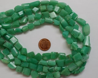 Chrysoprase Nuggets Faceted