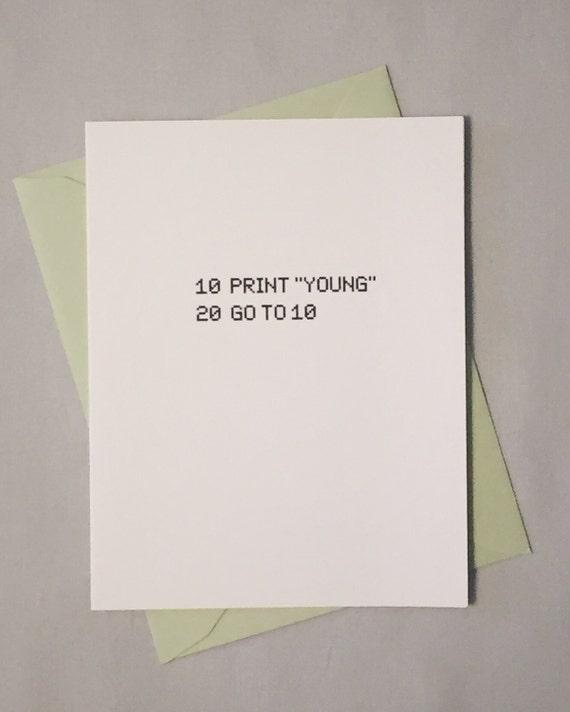 Geeky Birthday Card Basic Computer Programming Language