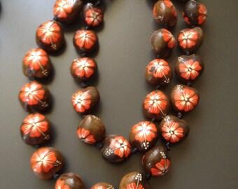 Hawaiian Kukui Nut Ceremonial necklace