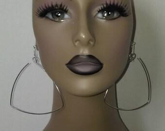 Unique Triangle Shape Wire Earrings, Womens Earrings, Ladies Earrings, Womens Jewelry, Ladies Jewelry, Dangling Earrings