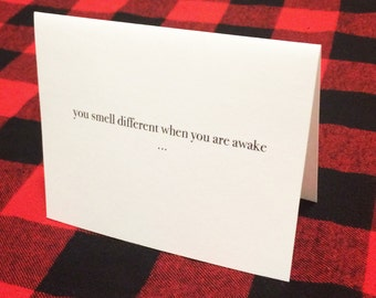 Creeper card / funny Valentine's Day / Humour/ Witty Couples Card