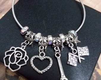 Roses and Race Cars Bracelet