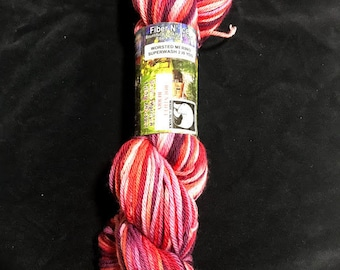 bountiful Berry Worsted Superwash Hand Dyed Yarn 200 yds