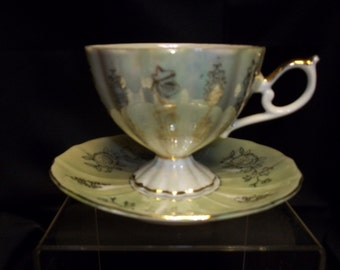 Bone China Cup and Saucer, Made in England - Vintage Item #2483  ON SALE NOW!!