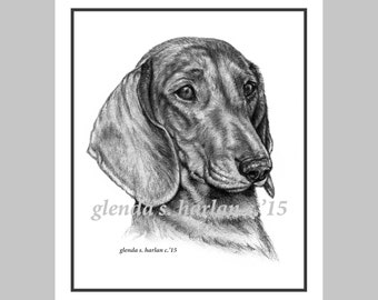Dachshund Note Cards - set of Eight