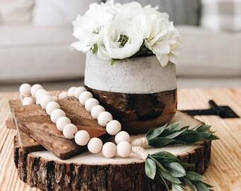 Wooden Bead Garland, Wood Bead Garland, Garland,Wood Beads,Bead Garland,tassel garland,spring decor,wood decor, farmhouse decor,rustic decor
