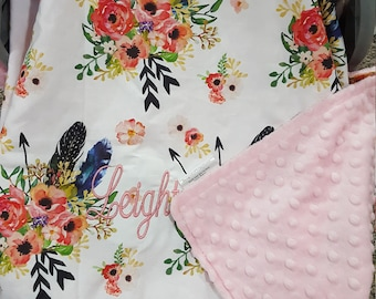Carseat Tent - Feather, Arrow, Flower Carseat Canopy, Tent,