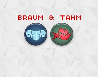 Braum & Tahm Stacks (Pin-Back Buttons)