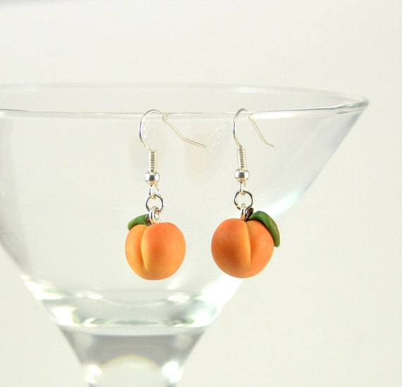 champagne peach il stone earrings bridesmaid listing