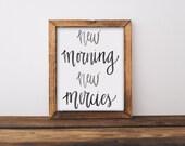 New Morning New Mercies Brush Calligraphy Print Scripture Print Digital Download Size 8 x 10