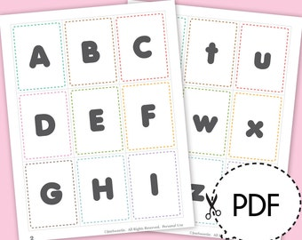 Alphabet Flash Cards-Printable PDF Download