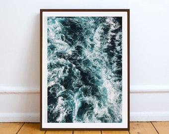 OCEAN SEA WATER Wall art print - Printable Digital Download - wall poster print - Summer Sunshine Home Decor