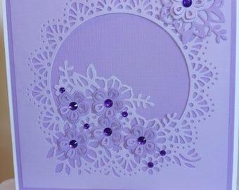 Purple on purple flower card