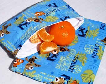 Nemo and Squirt Sandwich and Snack Bag Set, Reusable