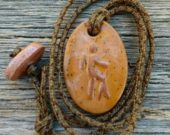 Hiker Necklace in Amber Ash