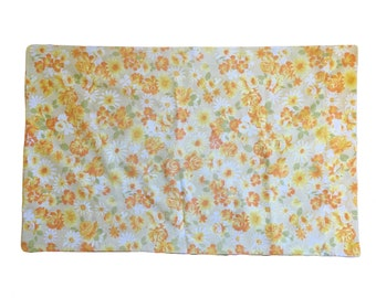 1960s/70s Floral Printed Pillowcase