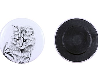 Magnet with a cat -American Bobtail