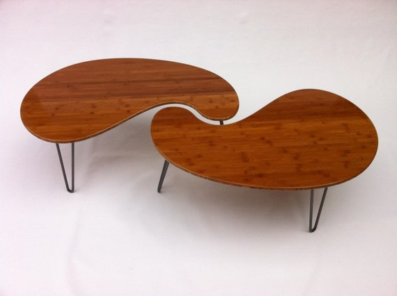 Superbe Nesting Kidney Bean Coffee Tables Mid Century Modern