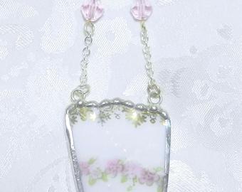 Broken China Necklace Vintage China