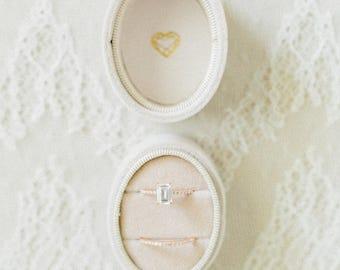 VELVET RING box, wedding rings box, french ring box, vintage velvet ring box, engagement and wedding ring box, vintage style, gift for mrs.
