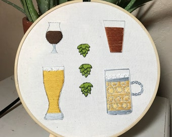 Craft Beer Embroidery