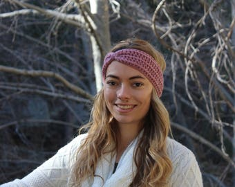 Knotted headwrap, earwarmer, headband, bow