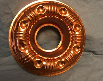 "8.5"" Copper Bundt cake pan. 3.5 cups. Copperware"