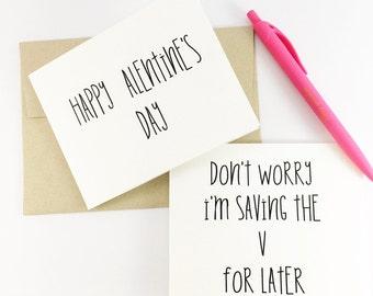 Funny Valentine's day card for boyfriend, sexy card, cards for him, funny card, love card, valentine's card, card for husband, funny card