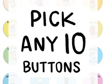 Free Shipping Cute Pin Back Buttons Brave Moonman Pinback Button Set Piece of Flair Pin Collection Funny Pins