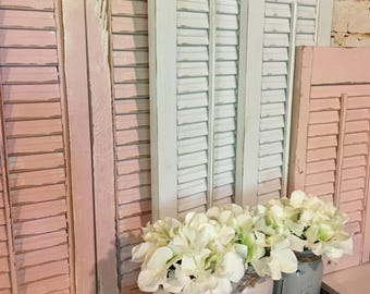 Wooden Shutters,  Shutter Wall Decor, Farmhouse Decor, Farmhouse Shutters,