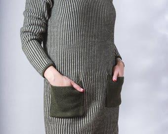 Merino Wool Short Dress/Sweater